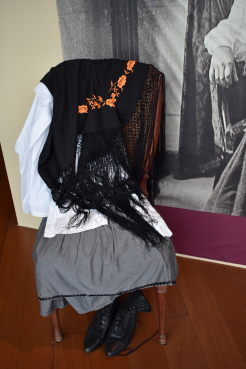 ancient female black veil, photographed at the Malaga museum